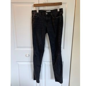Current Elliott Ankle Skinny Jeans in Faded Black